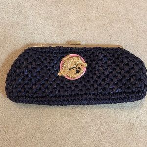 Lilly Pulitzer Clutch Navy and Gold